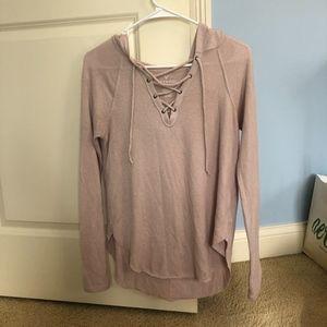 American Eagle light pink/blush long sleeve shirt